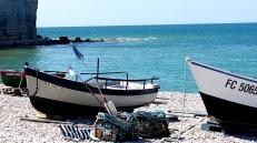 Yport, les bateaux de pêcheurs